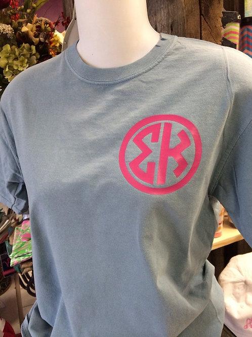Sigma Kappa Natural Circle Comfort Colors Tshirt