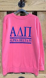 Alpha Delta Pi Comfort Colors Sweatshirt -  2 Bar Design
