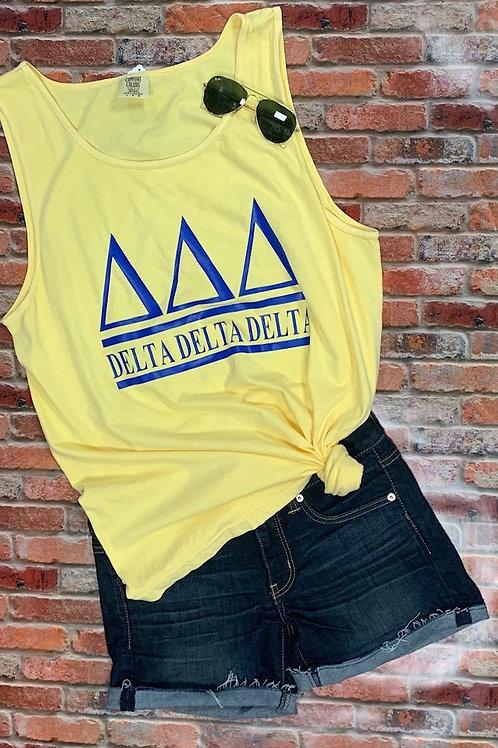 Delta Delta Delta Sorority Shirt - 2 Bar Design
