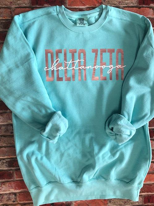 Custom Delta Zeta Comfort Colors Sweatshirt
