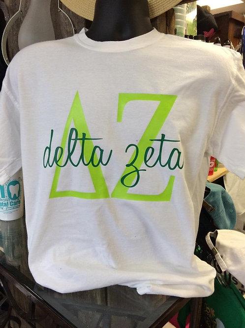 Delta Zeta Two Toned Comfort Colors Shirts