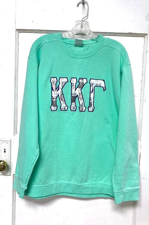 """Kappa Kappa Gamma Greek Letters - 6"""" Tall Raised Greek Letters With Owl Print"""