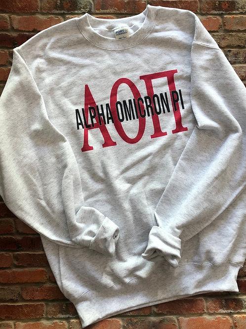 Alpha Omicron Pi Greek Bebas Sweatshirt