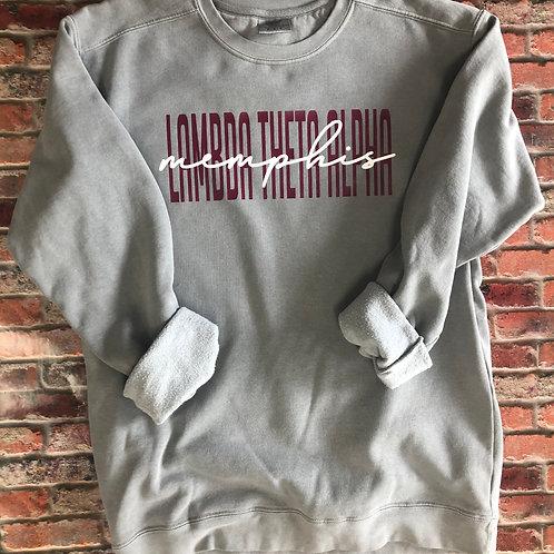 Custom Lambda Theta Alpha Comfort Colors Sweatshirt
