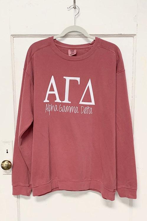 Alpha Gamma Delta Comfort Colors Sweatshirt
