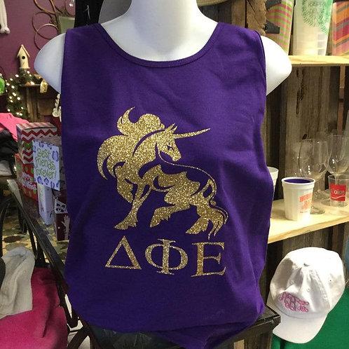 Delta Phi Epsilon Glitter Unicorn Tshirts