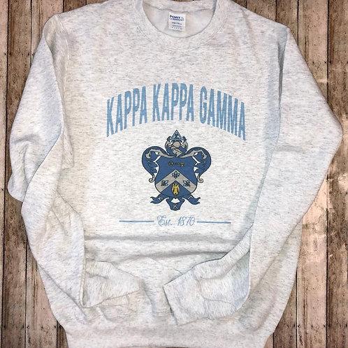 Kappa Kappa Gamma Crest Sweatshirts and Tshirts