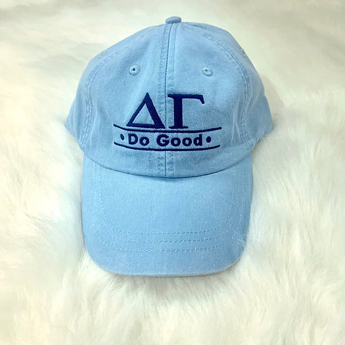 Delta Gamma Embroidered Hat - Greek Letters Do Good