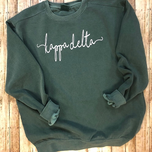 Custom Kappa Delta Shorelines Comfort Colors Sweatshirt