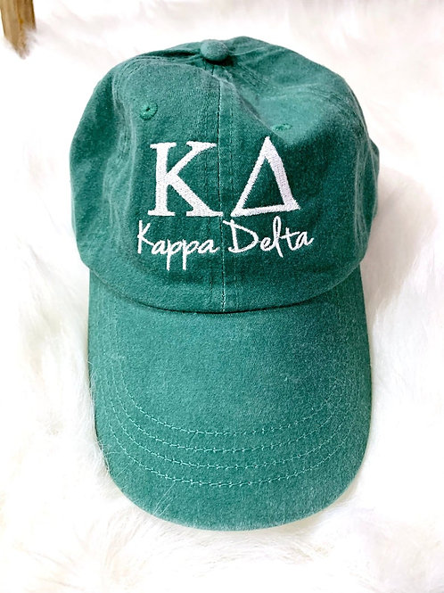 Kappa Delta Embroidered Hat