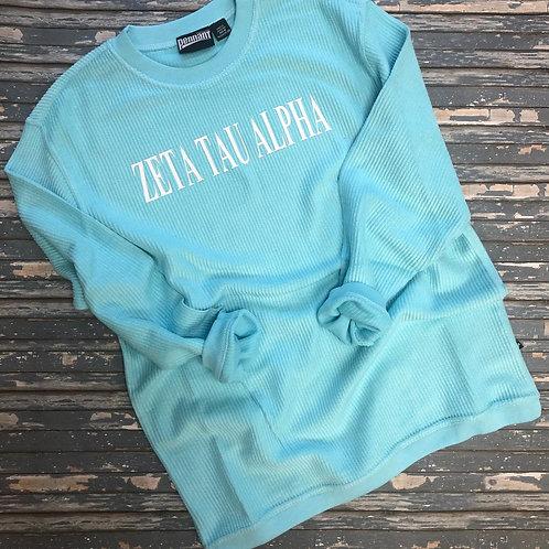 Zeta Tau Alpha Corded Crewneck Sweatshirt
