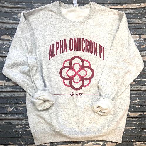 Alpha Omicron Pi Crest Sweatshirts and Tshirts
