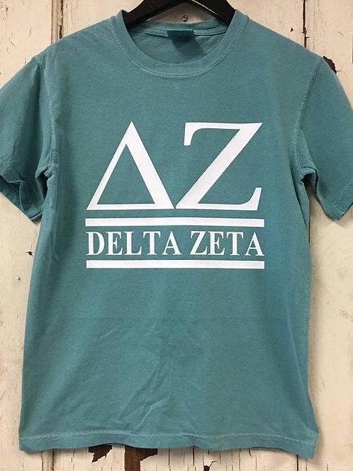 Delta Zeta Sorority T Shirt - 2 Bar Design