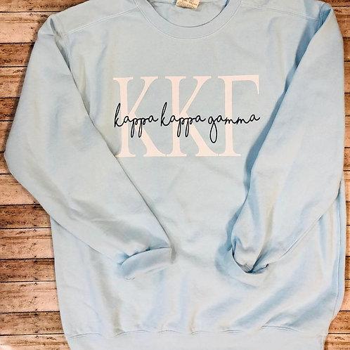 Kappa Kappa Gamma Chambray Sweatshirt