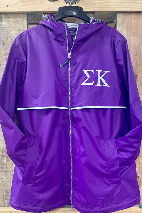 Sigma Kappa Embroidered Charles River Rain Pullover