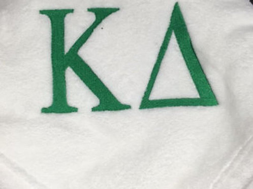 Kappa Delta Sorority Embroidered Blanket