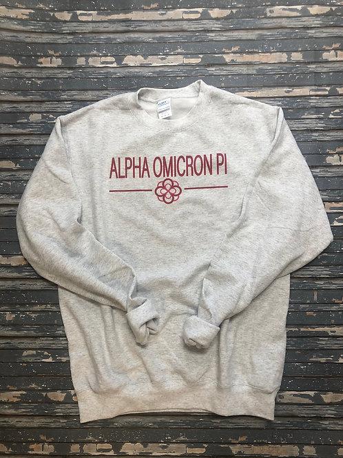 Alpha Omicron Pi Classic Crest Sweatshirts and T-shirts