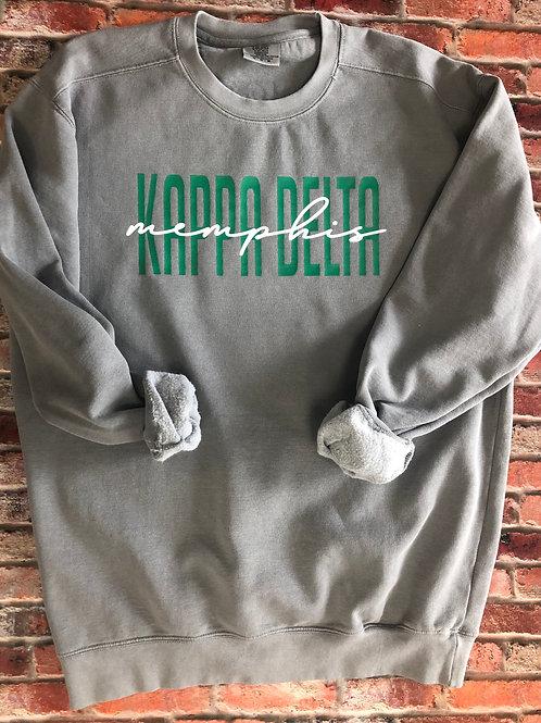 Custom Kappa Delta Comfort Colors Sweatshirt