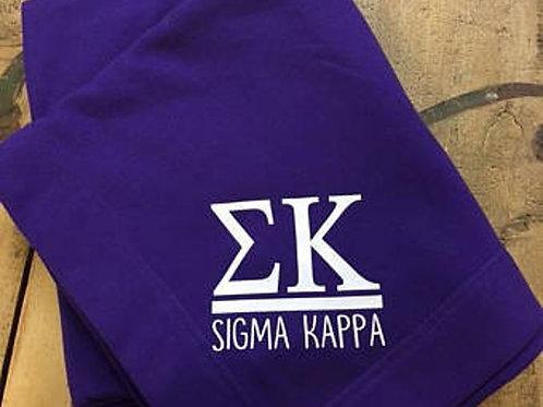 Sigma Kappa Sorority Stadium Blanket