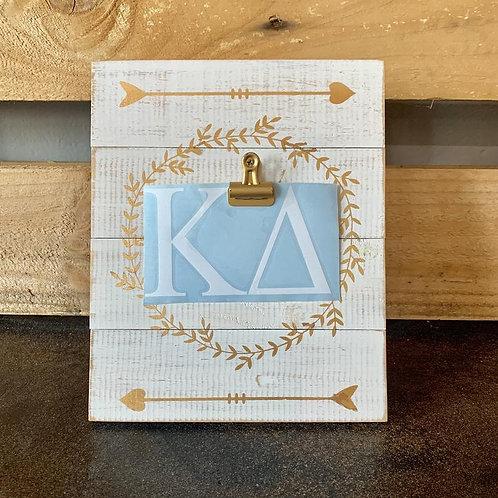 """Kappa Delta Car Decal - 3"""" X 4"""" Greek Letters"""