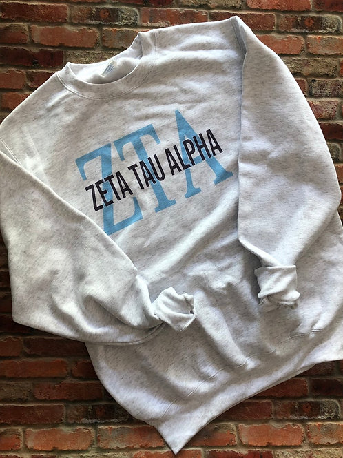 Zeta Tau Alpha Greek Bebas Sweatshirt