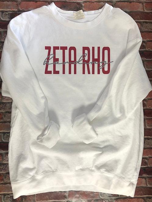Custom Zeta Rho Comfort Colors Sweatshirt