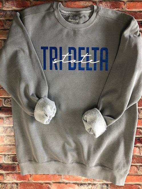 Custom Tri Delta Comfort Colors Sweatshirt