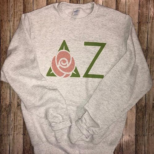Delta Zeta Rose Symbol Crest Sweatshirts and Tshirts