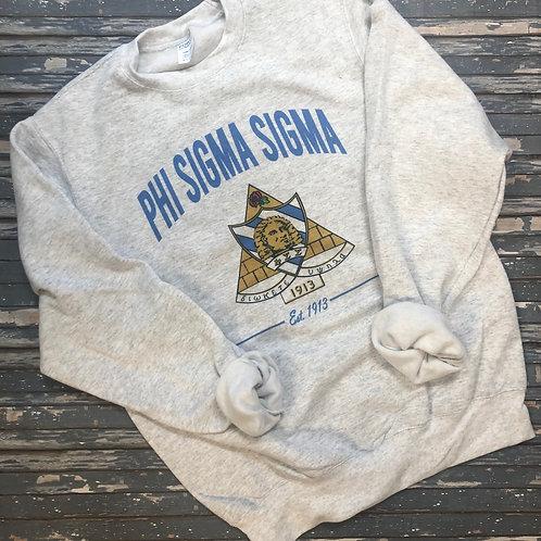 Phi Sigma Sigma Crest Sweatshirts and Tshirts