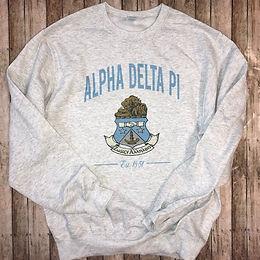 Alpha Delta Pi Crest Sweatshirts and T-shirts