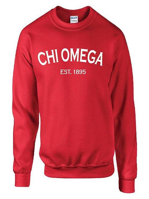 Customizable Chi Omega Established 1895 Shirt