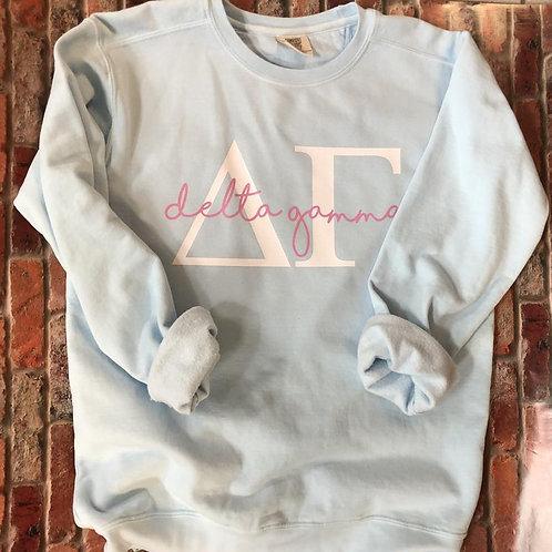 Delta Gamma Chambray Sweatshirt