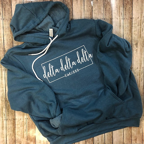 Delta Delta Delta Established Square Canvas Hooded Sweatshirt