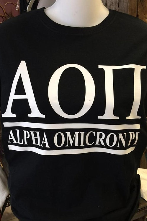 Alpha Omicron Pi Shirt - 2 Bar Design