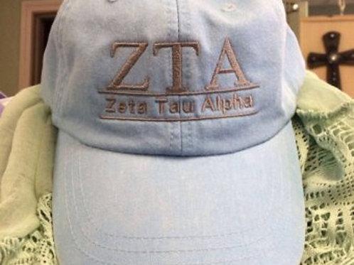 Zeta Tau Alpha Sorority Hat - 2 Bar Design