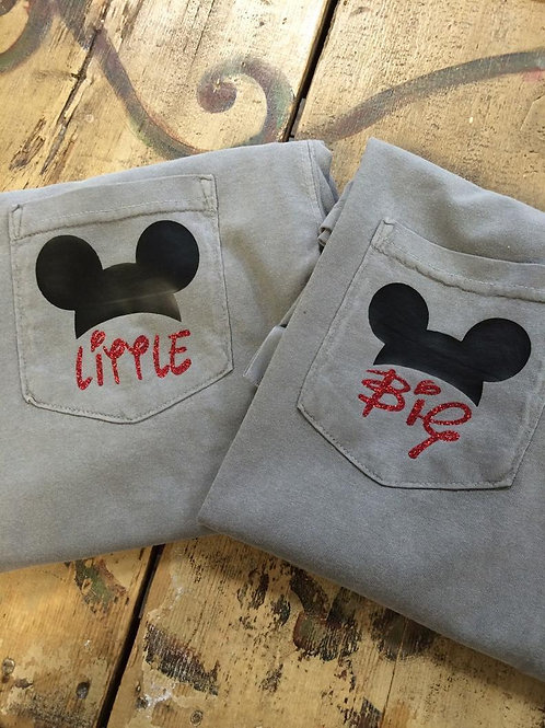 Disney Mickey Mouse Inspired Big Little Tshirts