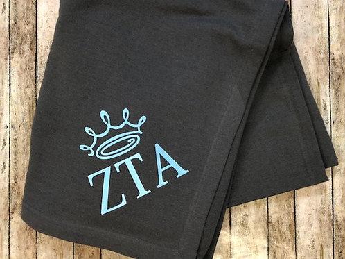 Zeta Tau Alpha Crown Blanket