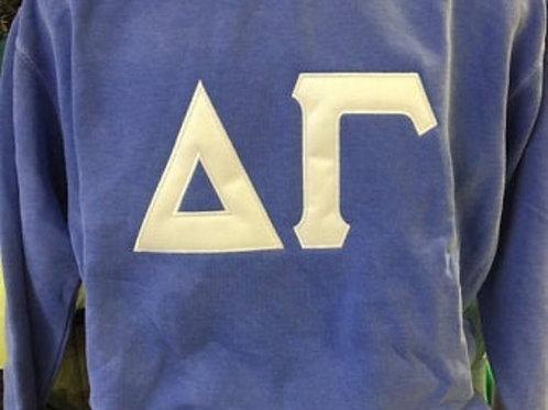 Delta Gamma Raised Letter Sorority Sweatshirt