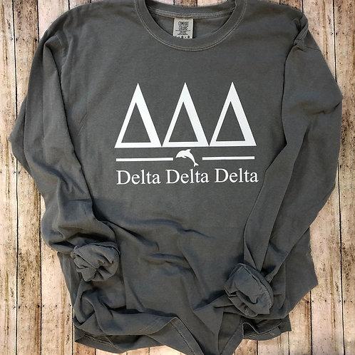 Delta Delta Delta Dolphin Bar Comfort Colors Tshirts and Sweatshirts