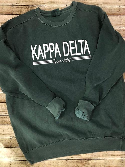 Kappa Delta Est. 1897 Comfort Colors Sweatshirt