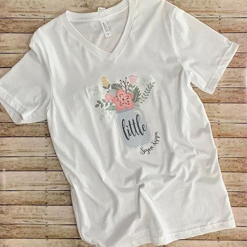 Big Little Reveal Sorority Family Shirts - Mason Jar Design