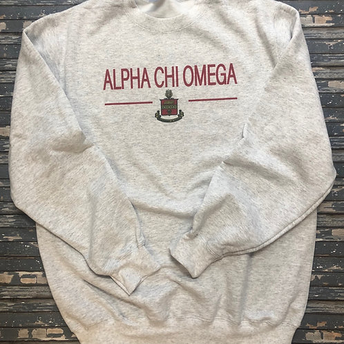 Alpha Chi Omega Classic Crest Sweatshirts and T-shirts