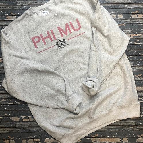 Phi Mu Classic Crest Sweatshirts and T-shirts