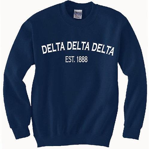 Delta Delta Delta Established 1888 Shirts