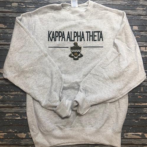 Kappa Alpha Theta Classic Crest Sweatshirts and T-shirts