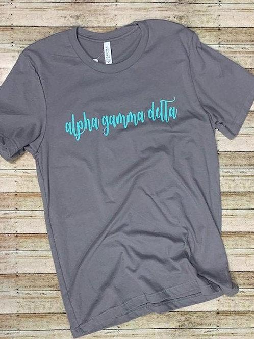 Alpha Gamma Delta Sorority T Shirt