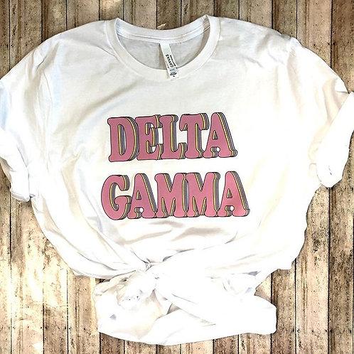 Delta Gamma Retro Sorority Shirt