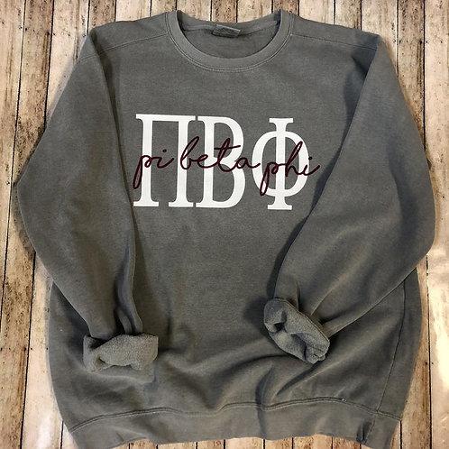 Pi Beta Phi Grey Sweatshirt