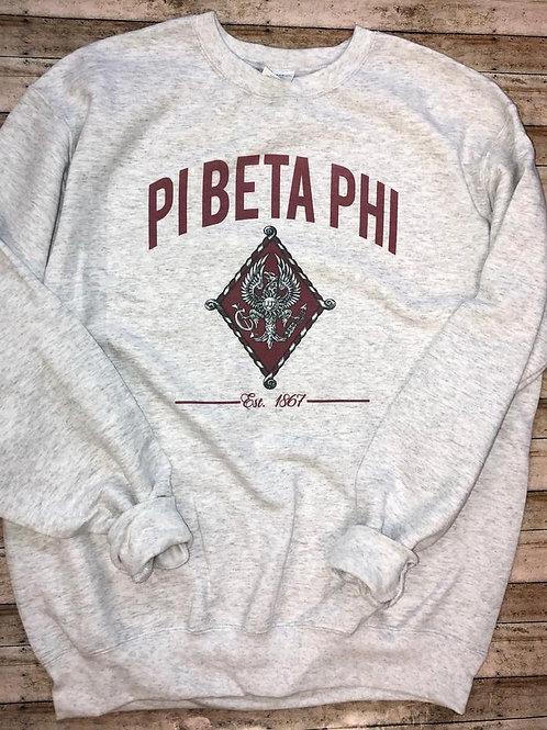 Pi Beta Phi Crest Sweatshirts and Tshirts