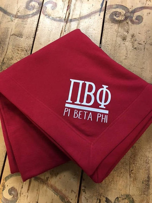 Pi Beta Phi Sorority Blanket